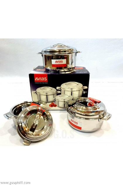 Avias Silver Hot Pot With Lid G16115