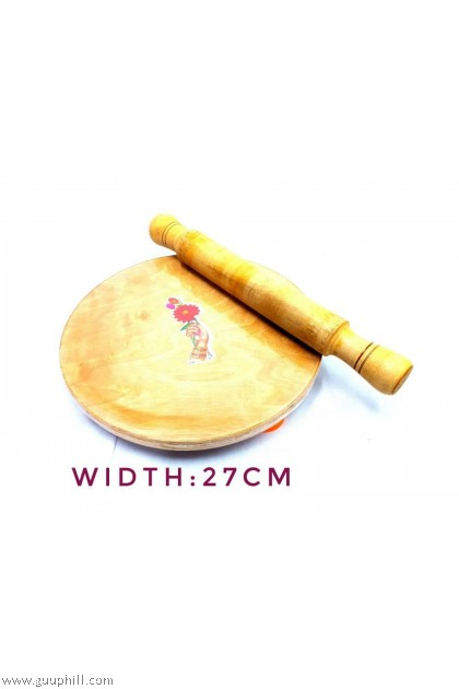Wooden Chapathi With Roll G2434