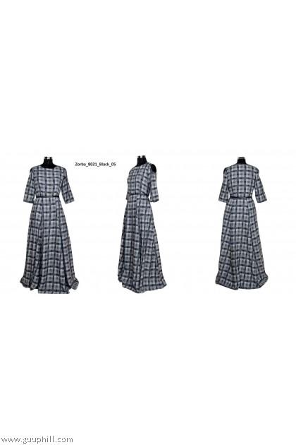 Women's Exclusive Designer Long Gown G-Zorba 8021 Black