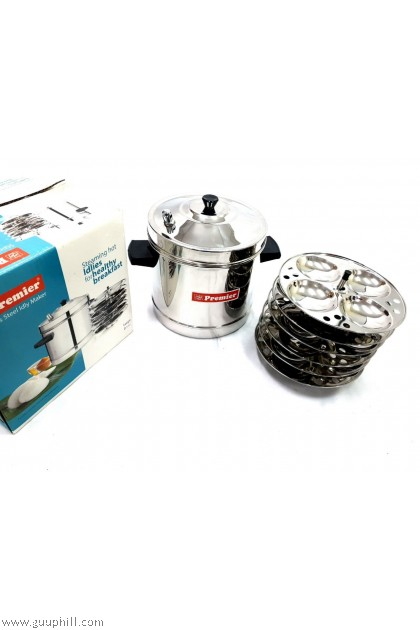 Premier Stainless Silver Idly Pot 24 Cavity G4349