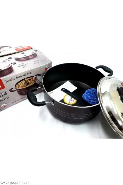 Diamond Non Stick Briyani Pot Jumbo Cook Pan with Lid 30 cm G17306
