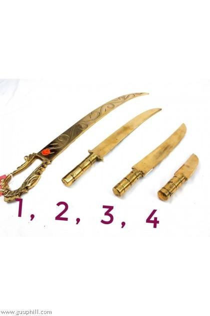 Brass Madurai Veeran Kathi/Knife G17293,17295,17296,17302